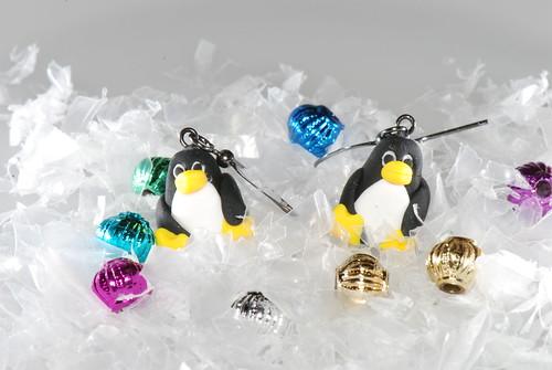 Tux Penguin Earrings