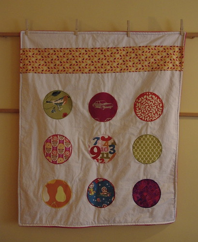 polka dot baby quilt