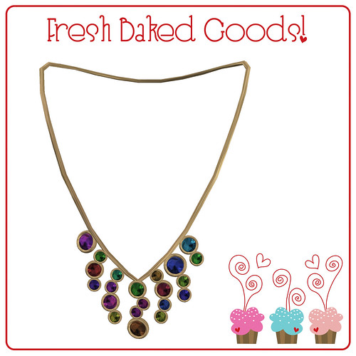 ~*Fresh Baked Goods*~ Bright Sugar Thumprint Cookie Necklace