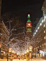 Festive (Seldom Scene Photography) Tags: christmas urban night mall geotagged lights colorado downtown denver 16thst dftower 120600mmf2840 gettyholidays2010