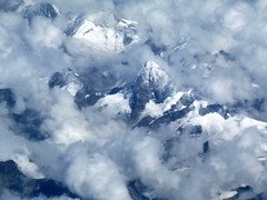 Zermatt  Switzerland / Matterhorn / Aerial  / This was shot with a point and shoot cannon from about 30,000 feet. () Tags: vacation mountain holiday window clouds plane airplane switzerland fly inflight montana aircraft altitude flight jet aerial airbus windowview zermatt matterhorn rtw aereo a330 airliner vacanze avion mtblanc montaas valais windowseat roundtheworld globetrotter areo staralliance a330200 egyptair bjerg  visp insidetheplane worldtraveler vuori intheclouds   cabininterior ario cantonofvalais interiorcabin inthecabin