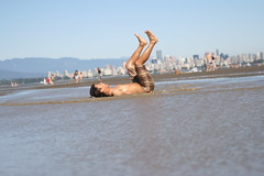 Andy Skim Boarding 7 (photos.by.ed) Tags: beach vancouver spanishbanks skimboarding