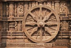 Sun temple, Konark (Sanjib Behera) Tags: tourism wheel architecture temple hinduism orissa chariot konark suntemple