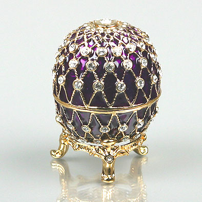 Russian Faberge Enamel Egg-Box