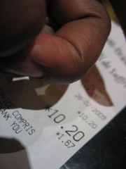 Tea receipt