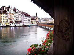 Kapellbrucke (lovesjames) Tags: travel bridge river switzerland heart lucerne chapelbridge kapellbrcke