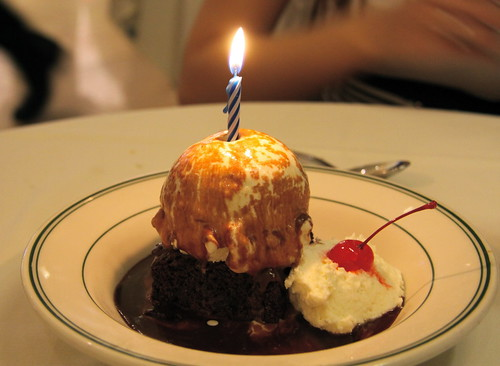 Joe's Stone Crab - Birthday Brownie and Ice Cream
