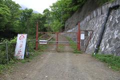鳥沢の林道のゲート