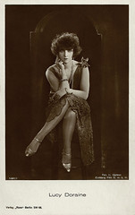 Lucy Doraine (Truus, Bob & Jan too!) Tags: 1920s cinema film fashion sepia vintage germany hair star necklace hungary silent dress legs lace postcard german actress movies hungarian eichberg grtner lucydoraine doraine