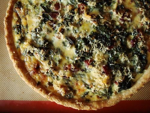 Spinach & Pancetta Quiche