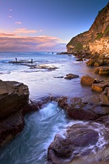 Canyon X (James.Breeze) Tags: ocean seascape beach water sunrise landscape seascapes fishermen cloudy earth sydney australia cliffs blowhole reef saltwater northernbeaches artisticphotos warriewood beachsunrise canyonx rockfishing ef1740mmf4lusm bestofaustralia jamesbreeze warriewoodblowhole