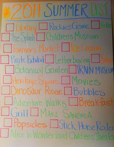 Summer Fun List 2011