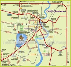 แผนที่ท่องเที่ยวจันทบุรี