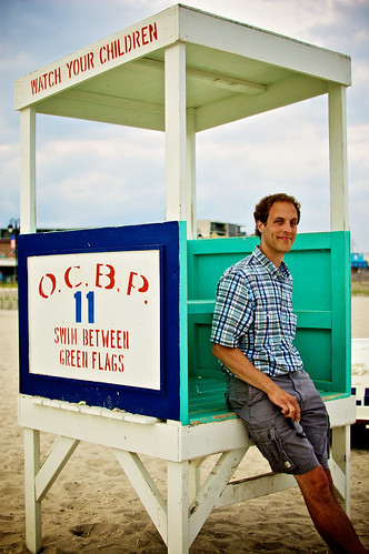 Mark chillin' by the lifeguard stand.