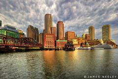 Fan Pier Sunrise - HDR (James Neeley) Tags: boston sunrise cityscape hdr fanpier 5xp bostonwaterfront jamesneeley