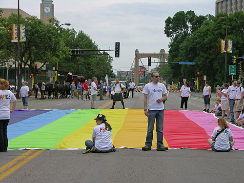 street wide flag