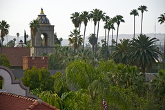 Rooftop Oasis (tdorsz) Tags: california city roof west green palms tile coast inn nikon riverside terracotta oasis dome tropical mission dorsz