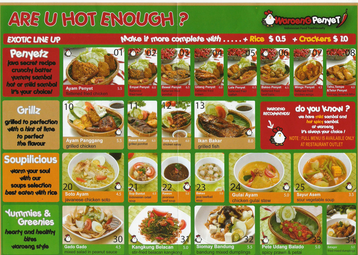 Click on the pic to see enlarged menu