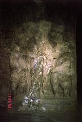 rock statues (Jennifer Kumar) Tags: bombay mumbai negativescan elephantacaves india1998