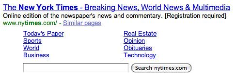 Search Box in Search Results