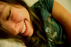 happiness (Dawn Ashley) Tags: selfportrait me smile laughing happy peace teeth content happiness laugh brunette naturalbeauty contentment nomakeup naturalbeautyportraiture