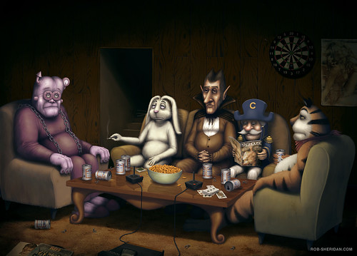 Cereal Mascot Reunion by Rob Sheridan.