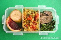 Small spaghetti squash & lamb bento lunch