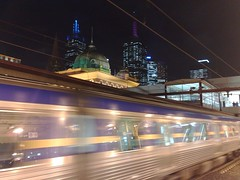 Nighttime at Flinders Street Station