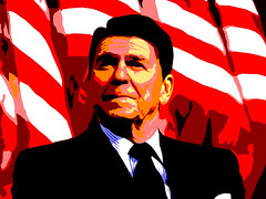 Posterised Vector of Ronald Reagan by Iain Forbes
