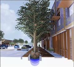 sidewalks will feature advanced stormwater management (credit: BNIM Architects)