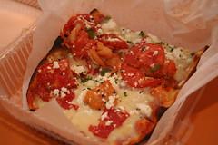 the delicious Santorini Style flatbread pizza
