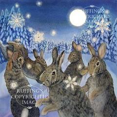 """The Rabbit Dances"" Watercolor by Elizabeth Ruffing"