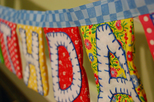THDA - Birthday Banner Close Up