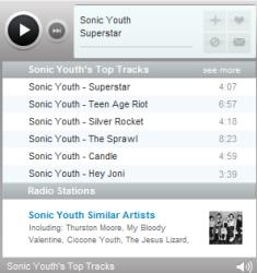 Last.fm music player