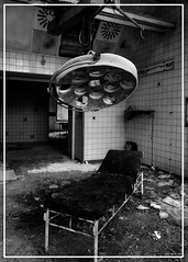 Minor OP's (Superlekker) Tags: berlin abandoned broken lamp hospital germany table deutschland theatre decay eerie surgery sanatorium derelict brandenburg operating krankenhaus dereliction trashed verlassen tbc klinik tuberculosis militaryhospital chirurgie lungenheilanstalt beelitz sperrgebiet sowjetarmee lazarett landesversicherungsanstalt rawtherapee heilanstalt beelitzheilstatten sovietarmyhospital itsastrangeplace anjalieder copyrightanjalieder2008