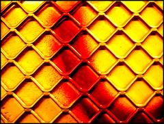 floating structure (sulamith.sallmann) Tags: red wallpaper abstract berlin rot texture yellow deutschland grid pattern background struktur structure gelb backgrounds grating zaun muster gitter abstrakt hintergrund xyz oberflächen texturen textur rotgelb gitterzaun sulamithsallmann ab0 hintergünde colorfullaward