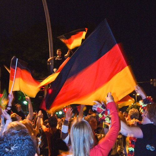Germans celebrating in Kiel