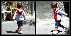 Vieni a giocare con me? (Occhidaorientale [Mi votai all'inquietudine]) Tags: red grey strada grigio child bimbo rosso minori gioco costieraamalfitana