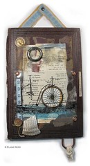 The Aquatic Velocipede (Abstractions Art) Tags: assemblage mixedmedia bookcover junkart alteredbookcover beeswaxcollage foundobjectart 06272008