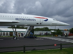 British airways Concorde G-BOAC (davidsmail101) Tags: park manchester airport aircraft aviation concorde british airways viewing supersonic