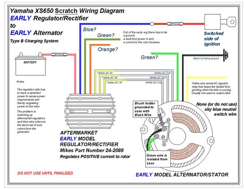 yamaha xs650 wiring diagram free download schematic 2003 yamaha kodiak wiring diagram free download early vs late model regulater/rectifier combo? | yamaha xs650 forum