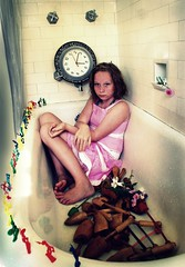 Life of the party. (olivia bee) Tags: clock water girl shower kid bath child dress tub bathtub lillie armymen teenagephotographer oliviabee shoehornsmaybe yeahyuhhhhhhh