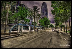 Welcome to the future (christian&alicia) Tags: barcelona city urban texture catalonia textures greatshot catalunya hdr torreagbar picnik tranvia glories avingudadiagonal sigma1020 platinumphoto aplusphoto d40x trabajarconphotoshop