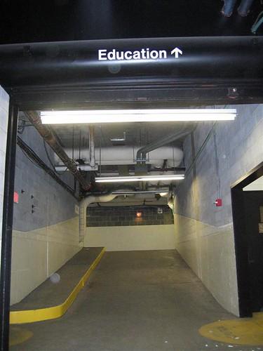Education building steel gate