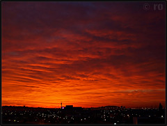 ( tovar) Tags: city orange sunshine night clouds noche ciudad amanecer nubes casablanca naranja colorescolours ltytr2 ltytr1 ltytr3 santboidellobregat