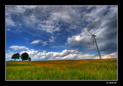 Wind turbine near Supsk (Mariusz Petelicki) Tags: windmill poland polska hdr windturbine