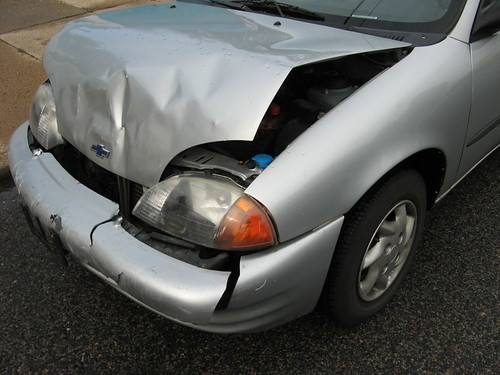 After Accident, Before Fixing - Left