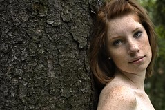 (maneeacc) Tags: red portrait tree visions golden nikon gorgeous redhead freckles maneeacc goldenvisions forbackup12092010