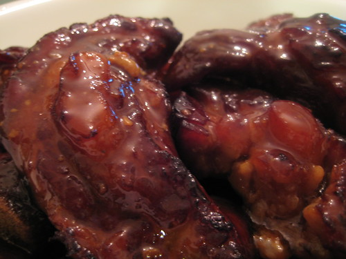 Stewed and Roasted Ribs with sauce (close-up)
