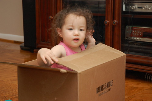 Toddler in a box
